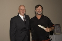 Dave presenting to John W. Zimmer